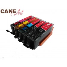 Canon eetbare inkt PGI 550BK  CLI 551 XL voordeelset
