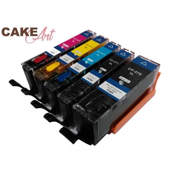 Canon eetbare inkt PGI 570  -  CLI 571 Voordeelset